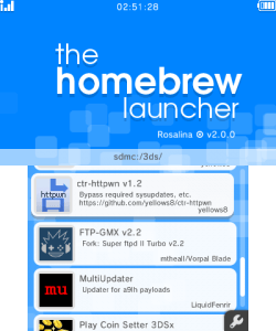 3DS Homebrew Launcher | WiiDatabase