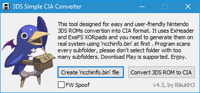 3DS Simple CIA Converter Scrot