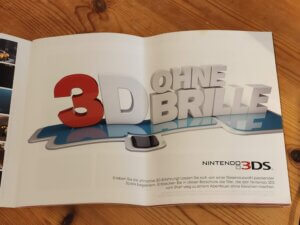 Werbeflyer für den Nintendo 3DS