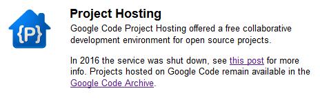 Google Code Shutdown