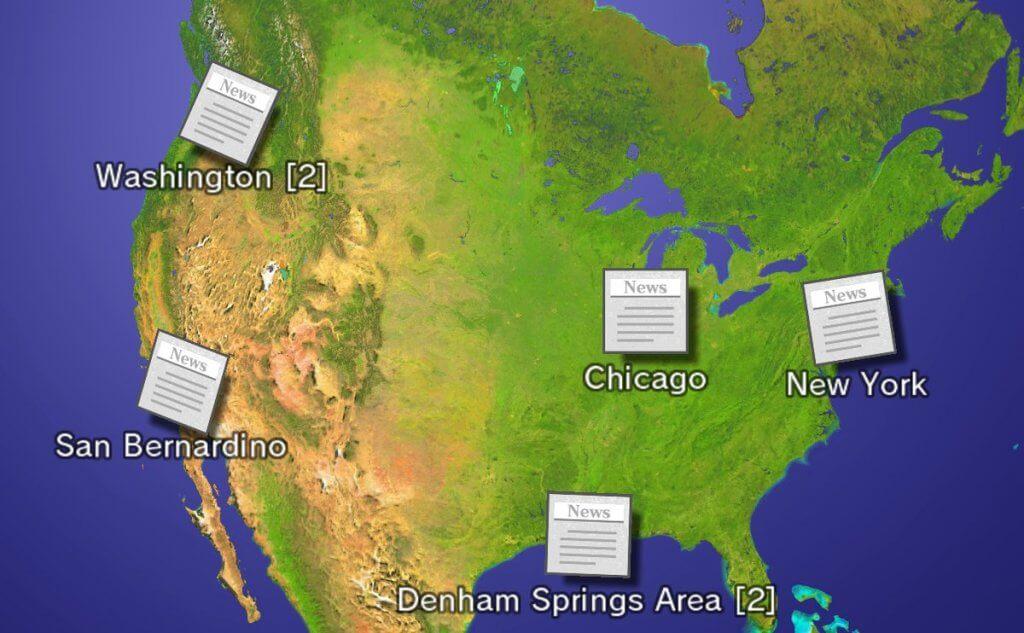Nachrichtenkanal Standortdaten