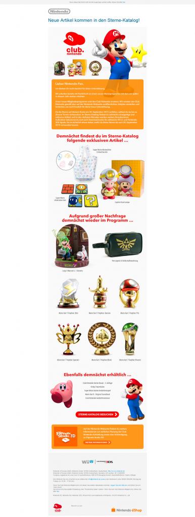 Nintendo-Sternekatalog Mai-Newsletter
