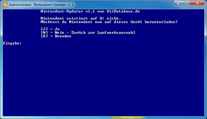 Nintendont-Updater 1.1 Neuinstallation