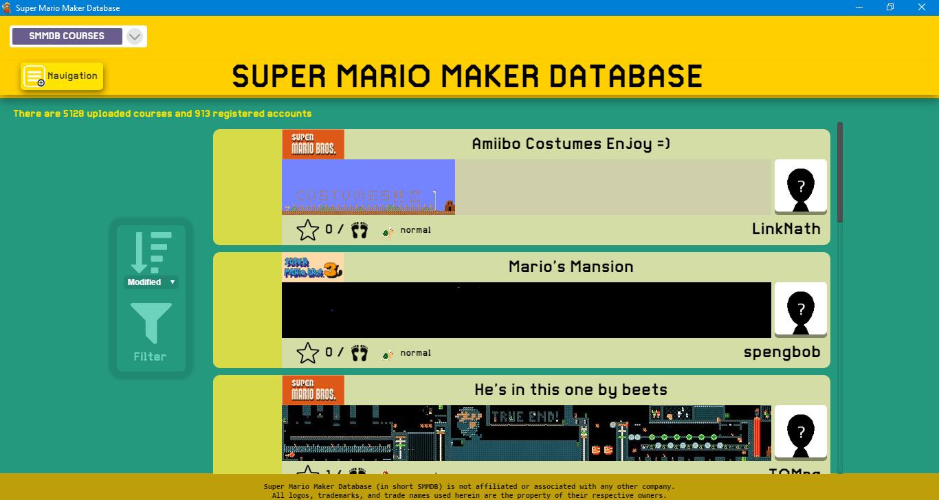 Super Mario Maker Save File Editor (Cemu SMMDB) | WiiDatabase