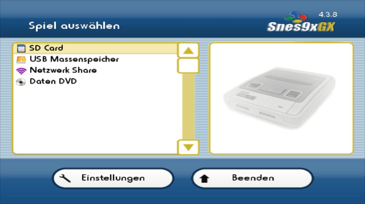 Snes9x GX | WiiDatabase