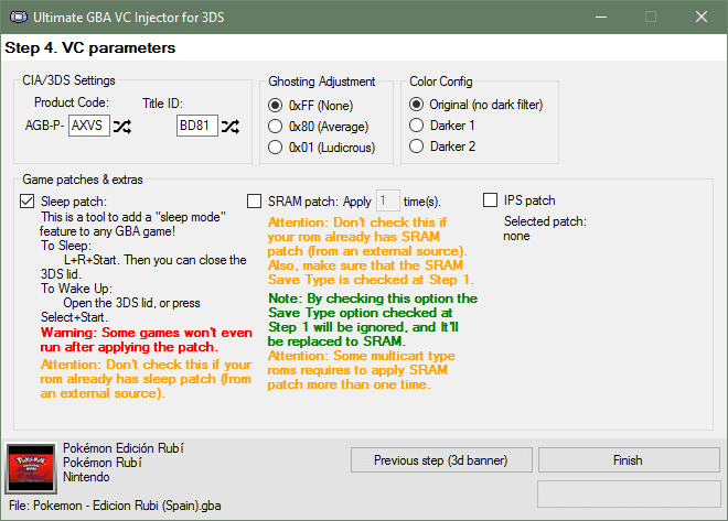 UGBAVCIF3DS SRAM