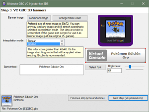 Ultimate GBC VC Injector for 3DS scrot