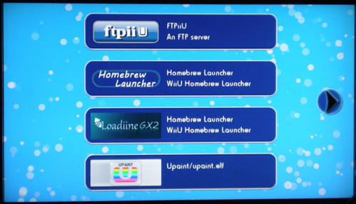 Wii U Homebrew Launcher Scrot