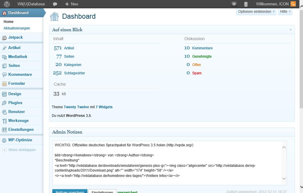 Nachher - Mit WordPress 3.5!