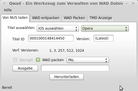 Qwad unter Linux Mint 14