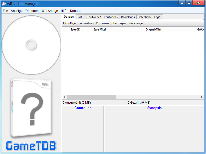 Wii Backup Manager | WiiDatabase