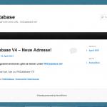 WiiDatabase v3 kurz vor der Schließung im Juni 2012